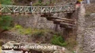 Stream and wooden bridge near Gangotri