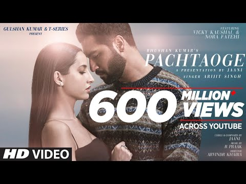 Pachtaoge New Hindi Song By Arijit Singh