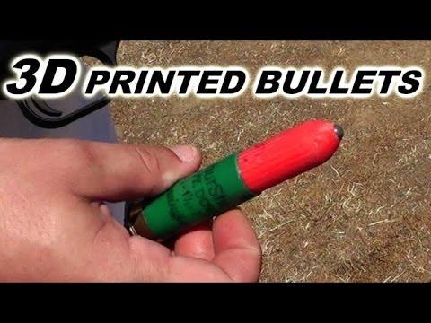 3D列印出子彈  可擊穿木板 (1:50觀看)