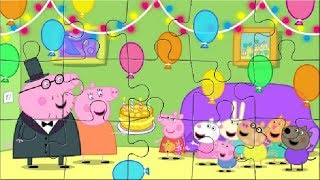 Peppa Pig video Birthday puzzle for kids