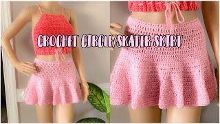 Crochet Circle/skater Skirt | SUPER EASY !