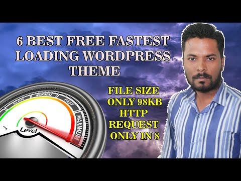 6 Best Free Fastest Loading Wordpress Theme To Make Website or Blog!!!
