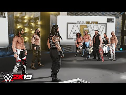 WWE 2K19 Custom Story - WWE Superstars Invades AEW for Universal Title ft. Cody, Rollins - Part 3