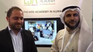 Ziad Sankari visiting LSA Booth in Kuwait Health Conference - 2017