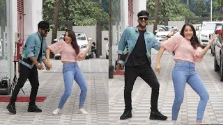 Norah Fatehi's HOT Dance Moves On Naach Meri Rani Song LIVE With Guru Randhwa Outside Tseries