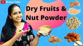 Lasya Talks || Dry Fruits Powder For Babies || Protein Powder || Weight Gain Recipe for Babies ||