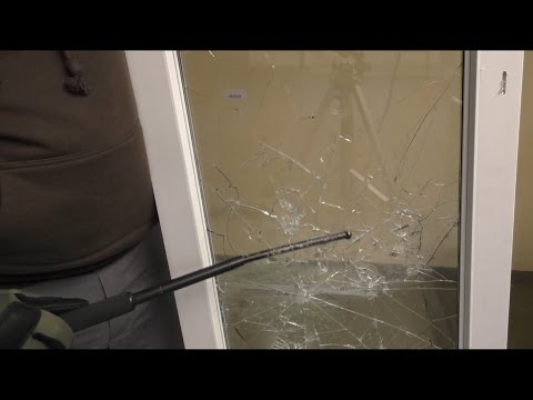 Fenster Splitterschutzfolie Bruchtest