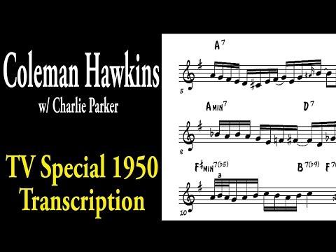 Coleman Hawkins - Ballad (w/ Charlie Parker on TV Broadcast 1950)