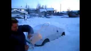 Кипяток VS минус 30 градусов мороза