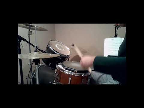 Drum Demonstration of Alfred Drum Method Book 1 Lesson 23 Combination Study with Metronome