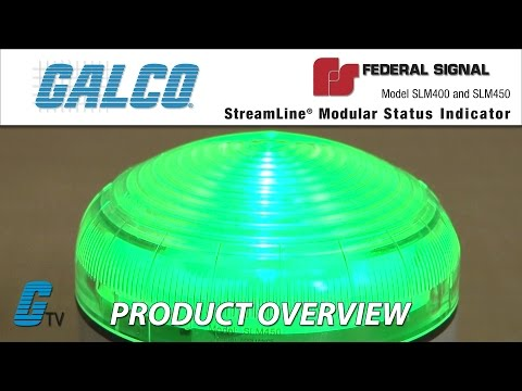 Green Status Indicator,Amber Red,LED FEDERAL SIGNAL SLM400
