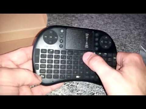 Mini Touchpad QWERTY Tastatur  Hintergrundbeleuchtung Android TV Box KOnsole Pc