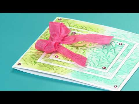 DIY Sizzix Texture Boutique Value Kit Flower Embellishment Card