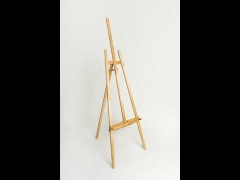 Como hacer caballete, atril, tripode para pintura y mas usos (DIY - Preparacion de madera y planos)
