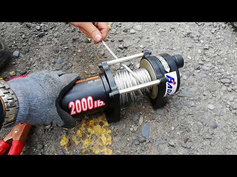 winche eléctrico 2000lb prueba