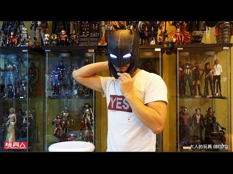 正義曙光 裝甲蝙蝠俠 BRETOYS 002 Armored Helmet 1:1 裝甲頭盔 開箱