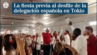Juegos Olímpicos: La fiesta previa al desfile de la delegación española en el estadio de Tokio