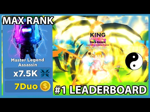 I Became Max Rank & Got Number One On The Top Leaderboard In Roblox Ninja Legends!!