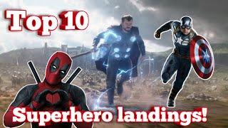 Top 10 epic superhero landings!🔥🔥🔥 |MARVEL|