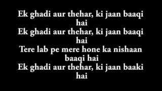 Ek Ghadi Lyrics from D Day HD - YouTube