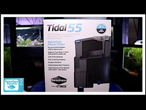 Seachem Tidal 55 Hang on Back Filter Unboxing | Assembly | Review