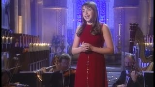 "Charlotte Church: ""Silent Night"" in the Llandaff Cathedral, Cardiff, Wales (1998). Live, HD, lyrics."