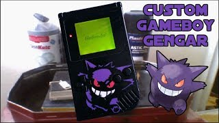 Custom Gameboy - Gengar; Showcase/How-to (Homemade) [HD]