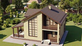 Проект дома 165-A, Площадь дома: 165 м2, Размер дома:  13,3x15,1 м