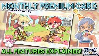 RAGNAROK MONTHLY PREMIUM CARD — All Features Explained! | Ragnarok Mobile Eternal Love