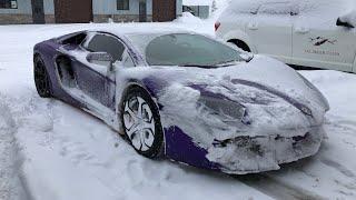DESTROYING my Lamborghini Rally Car *LAMBO SNOWPLOW*