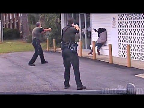 В штате Флорида подозреваемый отказался подчинятся полиции и достал пистолет