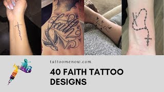 40 FAITH TATTOO DESIGNS