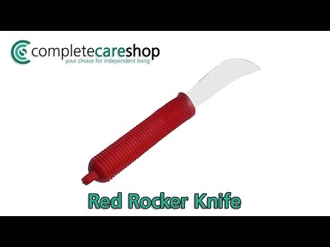 Red Handled Rocker Knife Demo