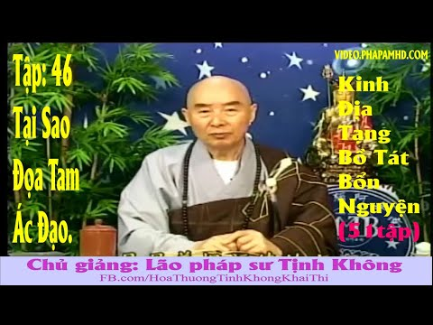 TẬP 46, Tại Sao Đọa Tam Ác Đạo - Địa Tạng Bồ Tát Bổn Nguyện Kinh Giảng Ký