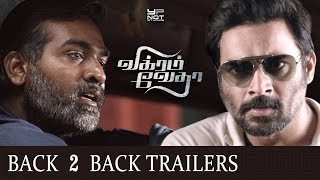 Vikram Vedha Tamil Movie Back 2 Back Latest Trailers | Madhavan | Vijay Sethupathi | Pushkar Gayatri