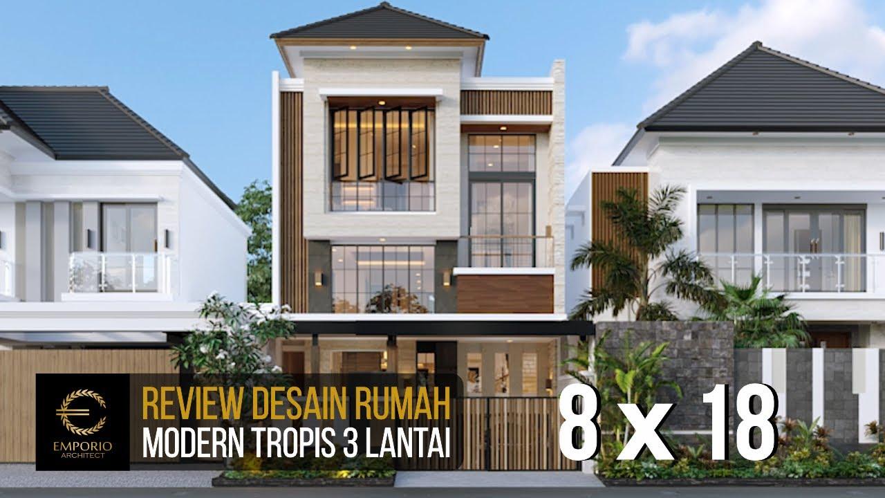 Video 3D Desain Rumah Modern 3 Lantai Ibu Eli di Bekasi, Jawa Barat