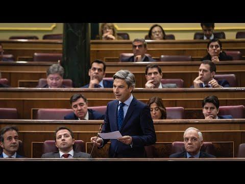 Andrés Lorite en el Congreso de los Diputados durante la Sesión de Control al Gobierno