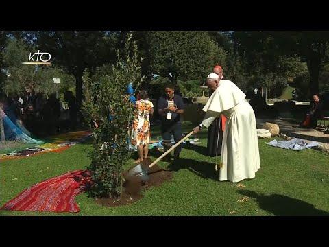 Fête de Saint François d'Assise dans les jardins du Vatican