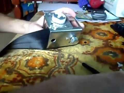 Ремонт переднего ремня безопасности на ВАЗ Калина 1119