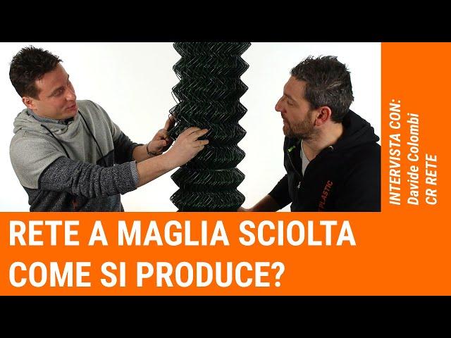 Come si produce una rete a maglia sciolta?