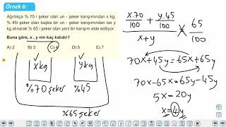 Eğitim Vadisi TYT Matematik 26.Föy Karışım Problemleri Konu Anlatım Videoları