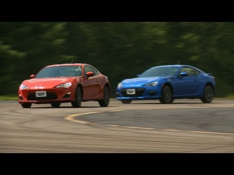 Scion FR-S vs Subaru BRZ Comparison Test Video