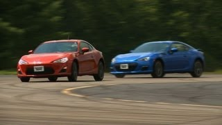 Scion FR-S vs Subaru BRZ at Consumer Reports test track | Consumer Reports