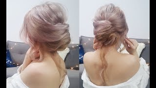 EASY LAZY HAIRSTYLE QUICK FRENCH TWIST BUN UPDO   Awesome Hairstyles ✔