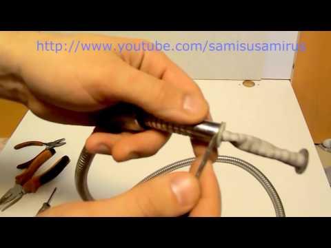 Ремонт шланга для душа, как починить шланг