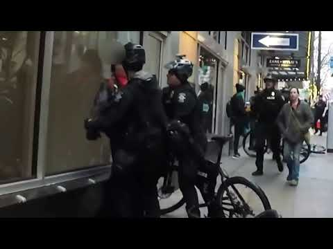 Seattle Police officers were recently filmed running into a pedestrian and then claiming assault as an excuse to arrest them.