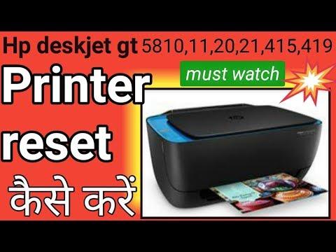 hp deskjet GT 5810 printer not color printing problem solve