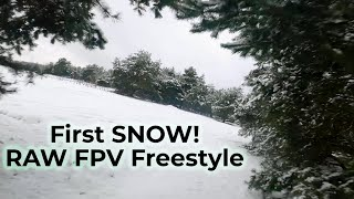 RAW First Time Flying with SNOW! FPV Freestyle Poland   21conceptFPV