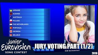 Junior Eurovision Song Contest 2018 JESC : Voting simulation (Part 1) - Jury voting 1/3