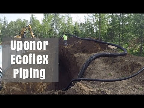 Uponor Ecoflex Pre-Insulated Piping System install